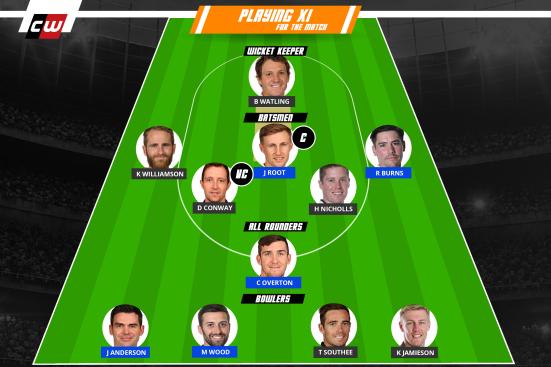 England vs NZ fantasy team