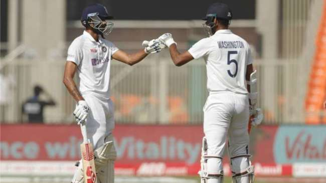 Axar Patel Washington Sundar Test India