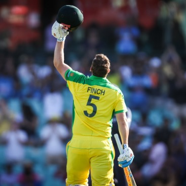 Aaron Finch - Photo courtesy: ICC Facebook page  Australia