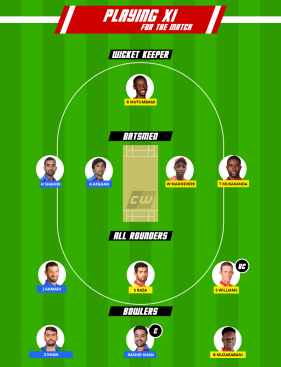 AFG vs ZIM Fantasy Team Test
