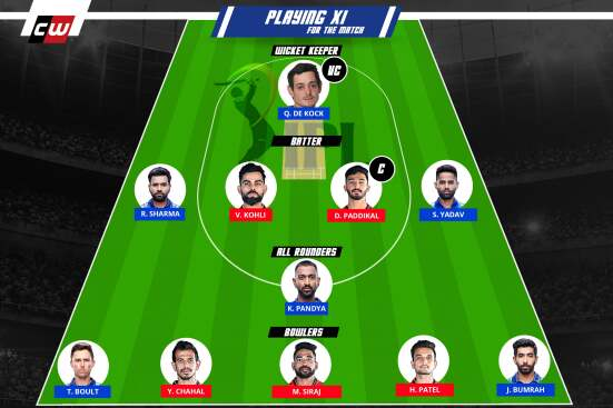RCB vs MI fantasy team IPL