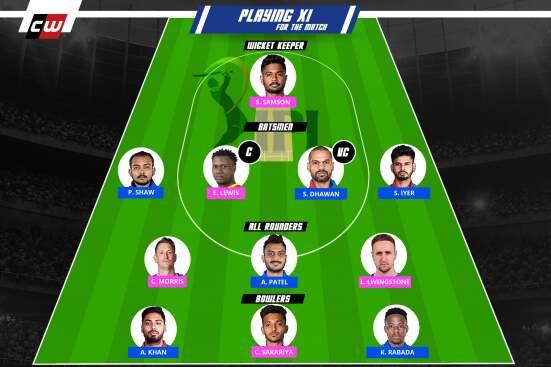 DC vs RR fantasy team IPL
